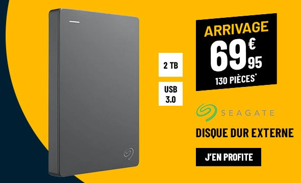 Disque Dur Externe 2.5'' SEAGATE 2To USB3.0 Basics