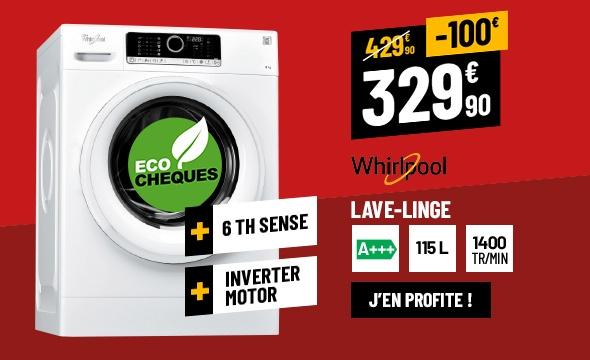 Lave-Linge Hublot 8 Kg WHIRLPOOL FSCR80412