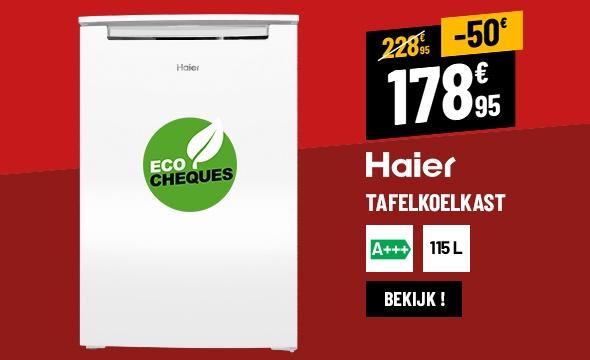 Réfrigérateur top HAIER HTTF-508W ( TT 115L A+++ )