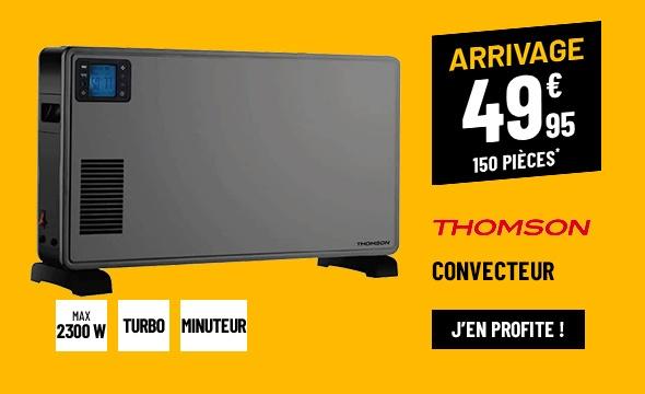 Convecteur THOMSON 2300W GRIS LCD TURBO THCVT2300DT