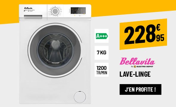LAVE-LINGE HUBLOT 7 KG BELLAVITA WF 712 A+++ W701T2