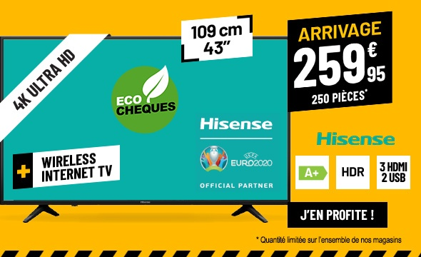 TV UHD 4K HISENSE 43B7100 SMART WIFI