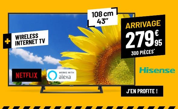TV UHD 4K HISENSE 43B7300 SMARt WIFI