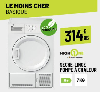 Sèche-linge 7 Kg HIGH ONE DHP 7 A+ W205T