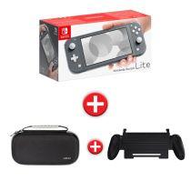 Console de jeux NINTENDO switch lite grise + housse premium + grip