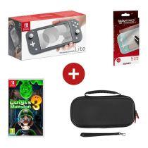 Console de jeux portable NINTENDO SWITCH LITE + Luigi's Mansion 3 + film en verre trempé + Etui de rangement