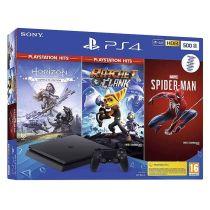 Console de jeux SONY Playstation 4 SLIM 500Go + Spiderman + Horizon Zero Dawn + Ratchet & Clank