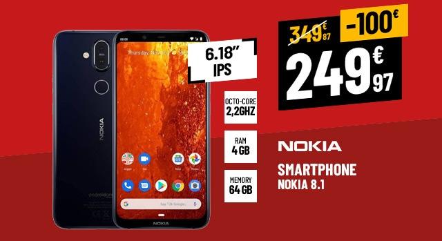 SMARTPHONE NOKIA 8.1 BLEU SILVER