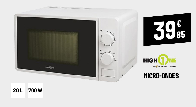 MICRO-ONDES MONOFONCTION HIGH ONE HO-MO5