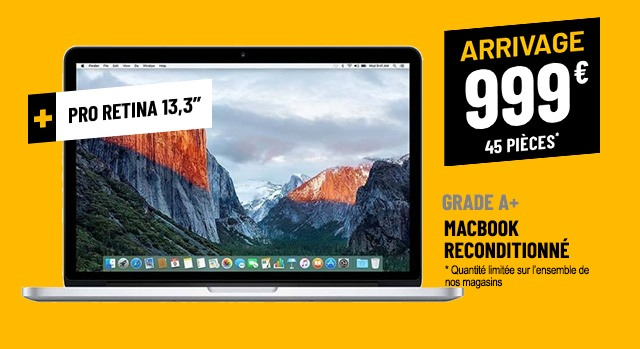 APPLE MACBOOK APPLE 13,3'' RECONDITIONNÉ RETINA I5-52