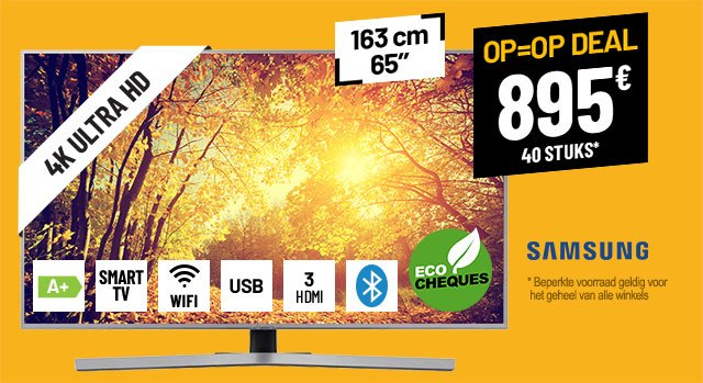TV UHD 4K SAMSUNG UE65RU7465 SMART WIFI