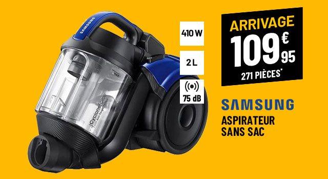 ASPIRATEUR SANS SAC SAMSUNG VC04K51E0VB/EN