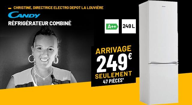 RÉFRIGÉRATEUR COMBINÉ CANDY CM 3354 W