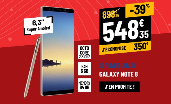 SMARTPHONE SAMSUNG GALAXY NOTE8 6,3''QHD OR TOPAZE