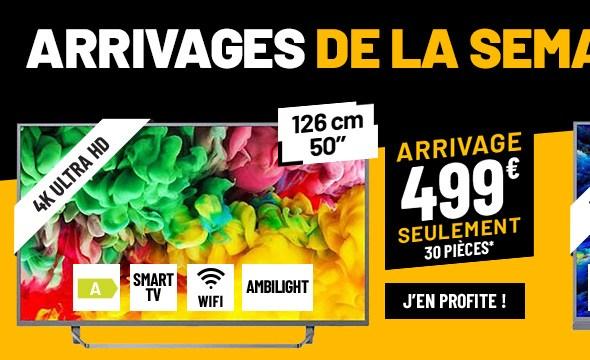 TV UHD 4K PHILIPS 50PUS6753 AMBILIGHT 3 SMART WIFI