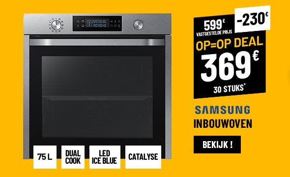 Warme Lucht Oven SAMSUNG DUAL COOK NV75K5541RS