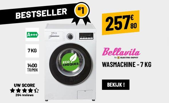 WASMACHINE FRONTLADER 7 KG BELLAVITA WF 1407 A+++ WMIC2