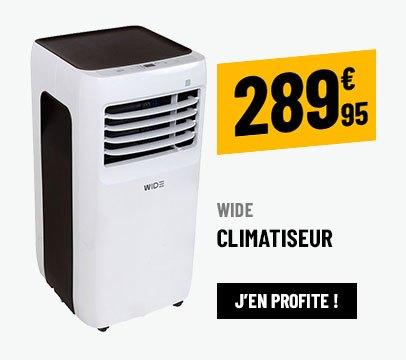 CLIMATISEUR MOBILE 12000 BTU RÉVERSIBLE