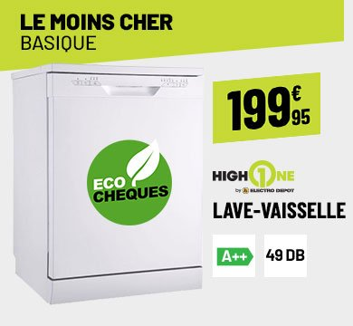 LAVE-VAISSELLE HIGH ONE 12C49 A++ W SIC