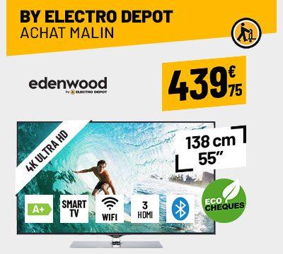 TV UHD 4K EDENWOOD ED5503 HDR CONNECTÉ