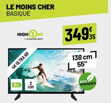 TV UHD 4K HIGH ONE HI5502-VE