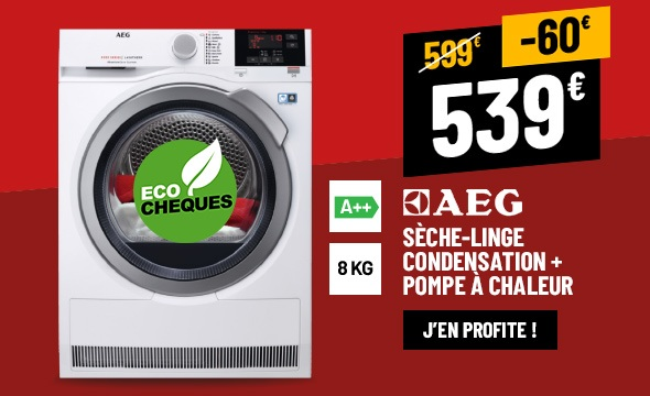 SÈCHE LINGE 8 KG AEG T8DBG48S