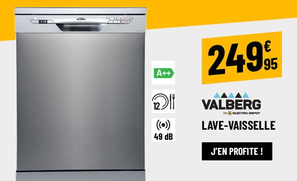 LAVE-VAISSELLE VALBERG 12C49 A++ XSIC