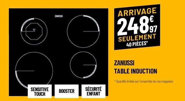 TABLE INDUCTION ZANUSSI ZEI 6840 FBA