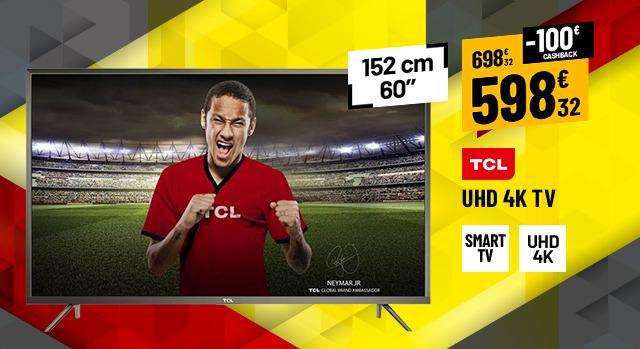 TV UHD 4K TCL U60V6026 UHD CONNECTEÉ HDR