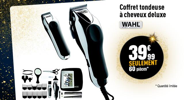 Tondeuse cheveux WAHL COFFRET DELUXE CHROME PRO 7952