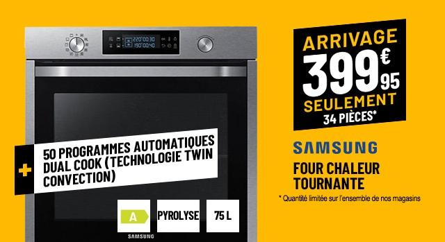 FOUR CHALEUR TOURNANTE SAMSUNG NV75K5571BS