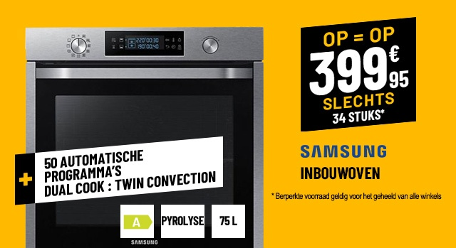 WARME LUCHT OVEN SAMSUNG NV75K5571BS