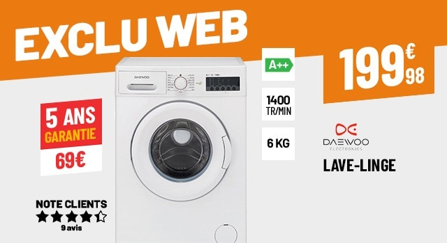 LAVE-LINGE 6 KG DAEWOO DWD-MV1421