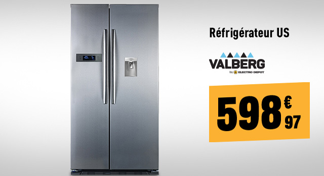 Réfrigérateur US VALBERG US V 525 A+ D IMC