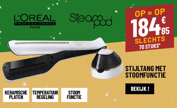 STOOM STIJLTANG L'OREAL STEAMPOD 2.0