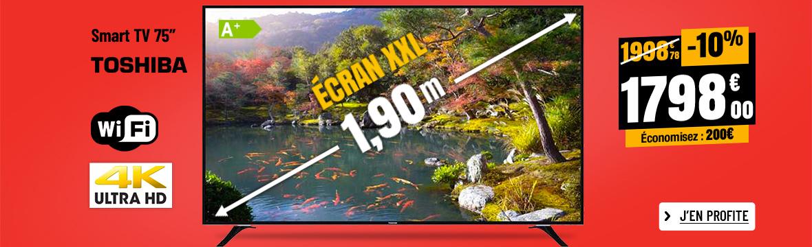 TV UHD 4K TOSHIBA 75U6763DG