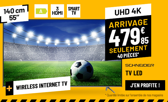 TV UHD 4K SCHNEIDER LD55-SC68SK UHD SMART