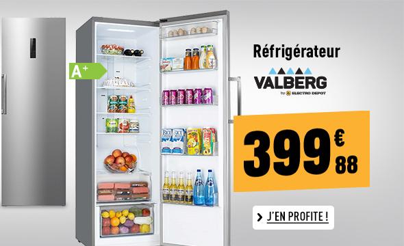 Réfrigérateur VALBERG VAL 1PUV 360 A+ SHC