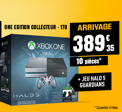 Console de jeux MICROSOFT XBox One édition collector 1 To + Jeu Halo 5 Guardians