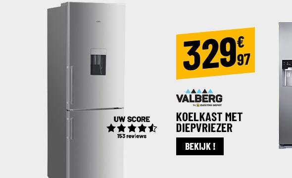 2-DEURS KOELKAST VALBERG CS 307 A+ WD XIAC