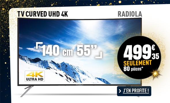 TV UHD 4K CURVED RADIOLA LD55-RD2212KC