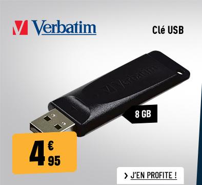CLÉ USB VERBATIM 8 GO STORE 'N' GO SLIDER