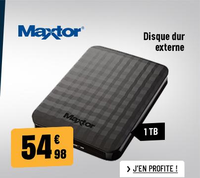 DISQUE DUR EXTERNE 2.5'' MAXTOR M3 1 TO NOIR