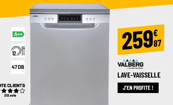 LAVE-VAISSELLE 60CM VALBERG 12C47 A++ S MISC