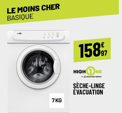 SÈCHE LINGE 7 KG HIGH ONE DE 7 C WMIC