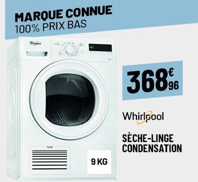 SÈCHE LINGE 9 KG WHIRLPOOL DGELX90111
