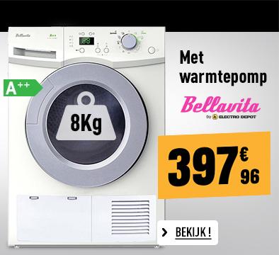Droogkast Frontlader BELLAVITA DF 8 A++ HP WMI