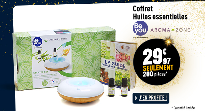 Coffret diffuseur d'huiles essentielles BE you + Aromazone BY-MFCHL01