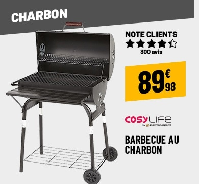 BARBECUE STEENKOOL COSYLIFE CL-5940P4C2