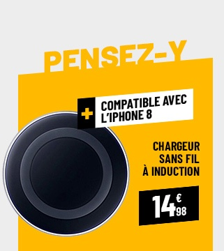 CHARGEUR SANS FIL À INDUCTION QI LED